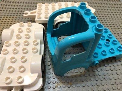 【點點小豆】LEGO 樂高積木 DUPLO 得寶 水藍色 貨櫃車 拖車 配件 1 組 全新 如圖! 新北市