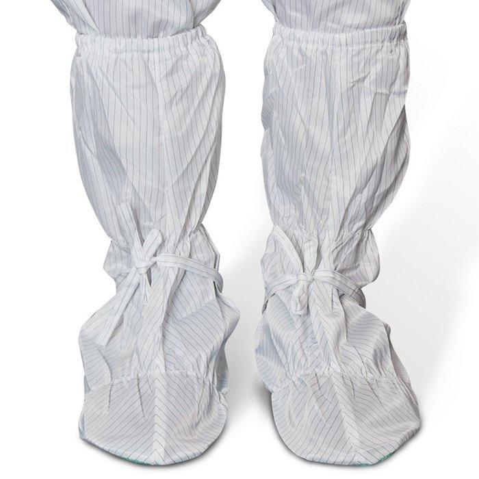 防靜電軟底鞋高筒綠底鞋套 無塵室車間工作鞋耐磨軟底靴 虧本跑量