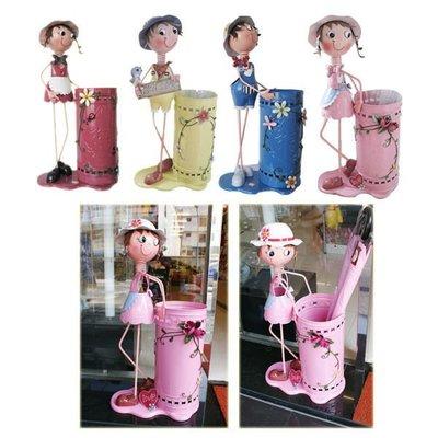 【贈品禮品】A0058 韓版彩繪田園娃娃雨傘筒/雨傘桶/雨傘架,店面/居家最優質擺飾