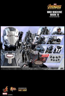 啡盒未開現貨Hottoys Warmachine Mark 4 動漫版 Endgame hot toys ironman iron man spiderman