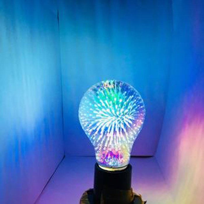 5Cgo【代購】設計師聖誕樹氣氛小夜店LED創意煙花烟火流星燈泡 A60七彩立體藝術E27 3D十種造型 另十款燈座含稅