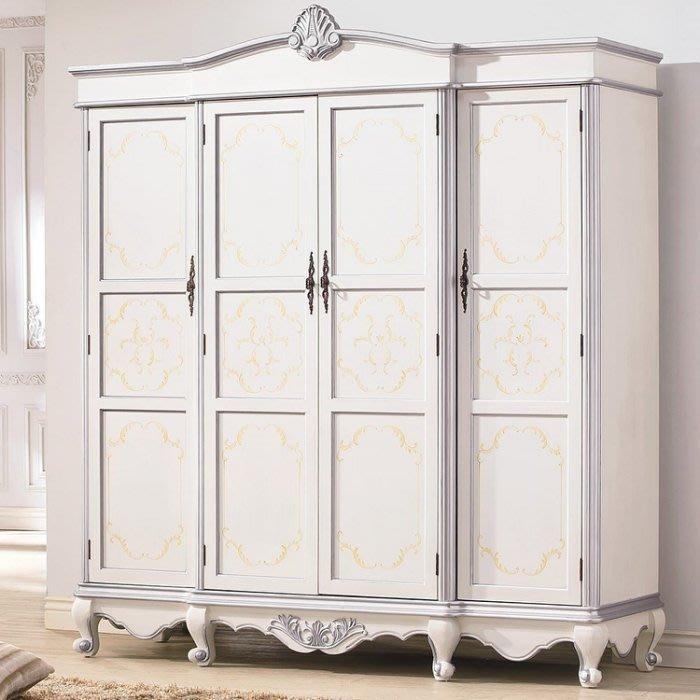 美式衣櫃歐式四門衣櫥超大儲物簡約現代衣櫃