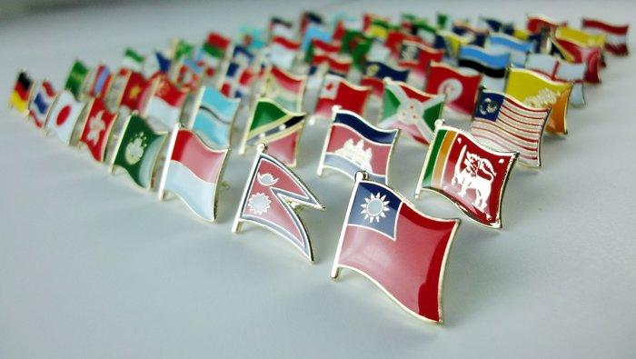 【國旗徽章達人】世界國旗200國徽章組合/胸章/胸針/別針/勳章/獎章
