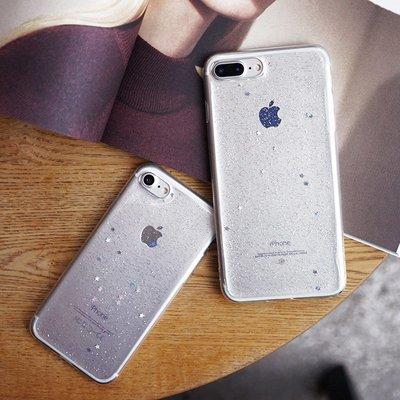 手機殼 透明閃粉亮片8plus蘋果6s手機殼7p全包防摔軟硅膠iphone7plus女款