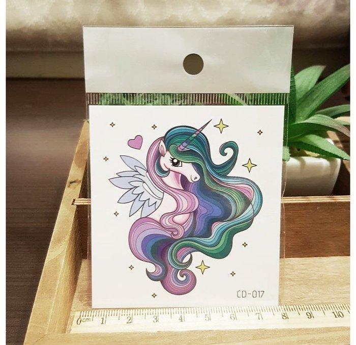 【萌古屋】獨角獸CD-017 - 防水紋身貼紙刺青貼紙K12
