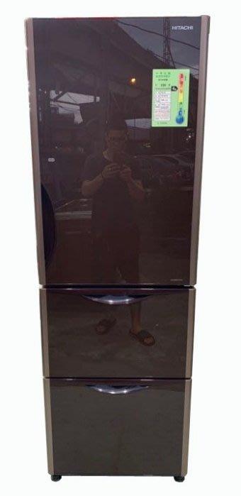宏品二手家具館 便宜2手傢俱拍賣RE110103*日立紅色394L三門冰箱* 中古 窗型/分離冷氣 液晶電視