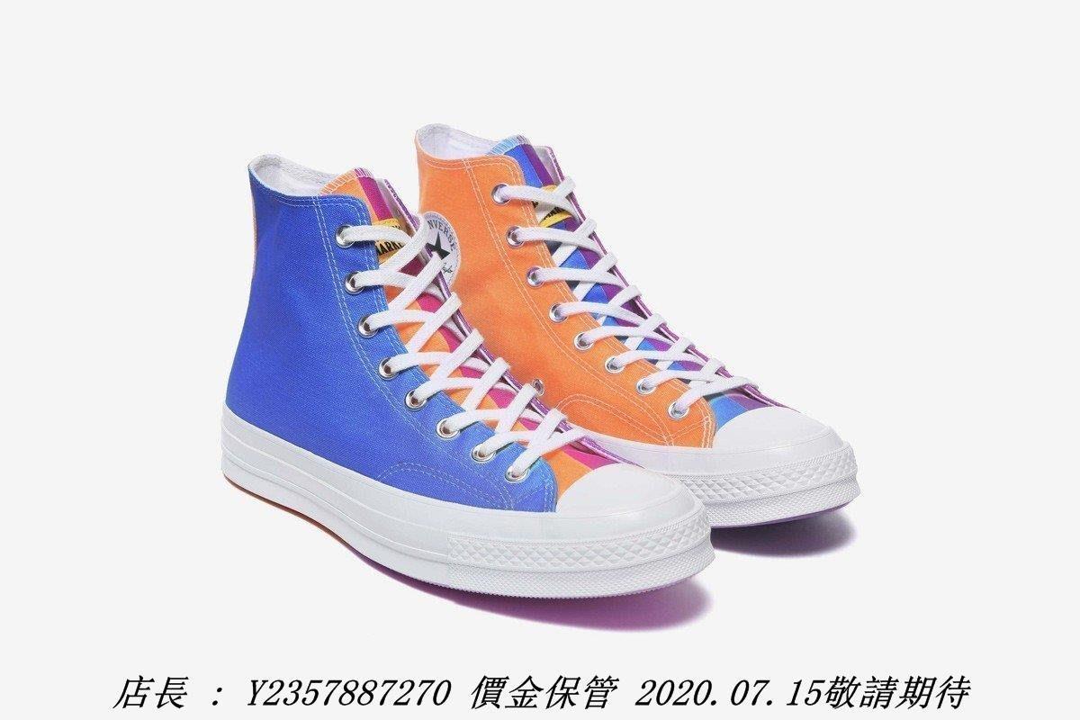 CONVERSE x CHINATOWN MARKET 1970S 變色 彩虹 高筒 166598C