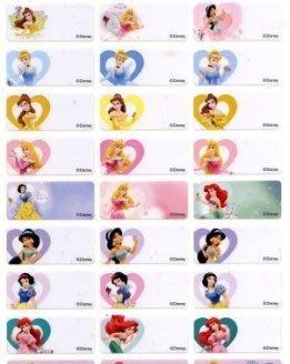 *儒霖刻印*迪士尼 甜心公主系列貼紙 300張 100元 另售卡通章 姓名貼 橡皮章 連續章