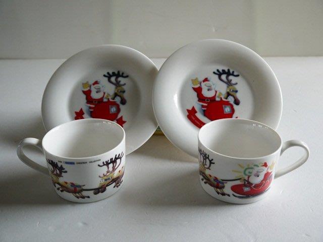 麥物堂珍藏商品~懷舊系列『1998年HANG TEN咖啡杯盤耶誕紀念款』*低價出售**絕版逸品*