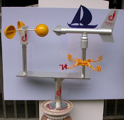 工安用耐風型景觀風杯風向機(風向計風向儀) wind vane,JK Wind Compass,JK-28S+CUP
