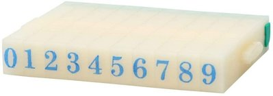 4.5mm Rubber 0-9 Digits Detachable Number Stamp Stationery