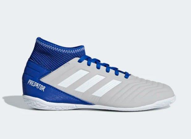 【鞋印良品】愛迪達 ADIDAS Predator 19.3 IN JR 中大童 女生平底足球鞋 CM8545 灰藍白