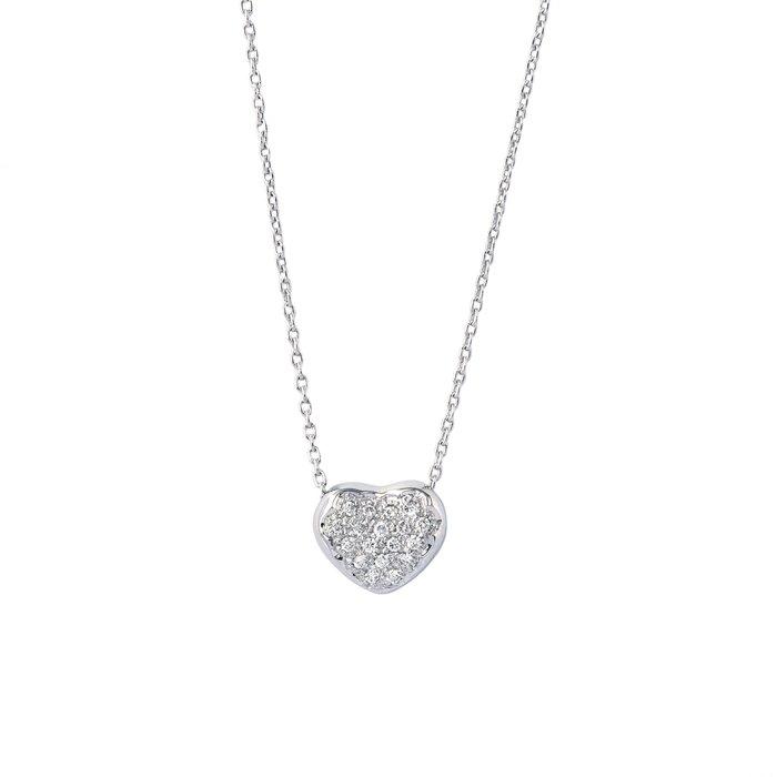 【JHT金宏總珠寶/GIA鑽石專賣】0.14ct天然鑽石項鍊/材質:750(JB52-A23)