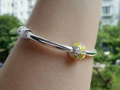 嗨,寶貝銀飾珠寶* 925純銀☆999純銀 復古 花卉 可滑動 實心純銀手環 手鐲