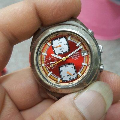 <行走中>ALBA 三眼錶 計時碼錶 石英錶 無玻璃男錶 女錶 便宜賣 非 機械錶 港勞 EAT ROLEX SEIKO TELUX MK IWC CK A01