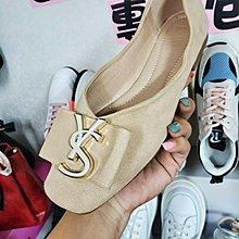☆╮街頭教主。Y家麂皮絨蝴蝶結V口顯瘦平底鞋 #40