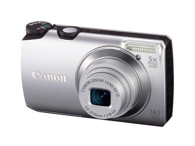 Canon Digital 數位相機 銀色(PowerShot-A3200 IS)機身輕巧 性能全面