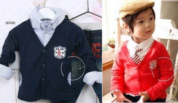 媽咪家【AD039】AD39薄學院款外搭 軟綿 小外套 實用 外搭~現貨紅色 / 120.130