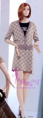 名媛! 妮蒂NeeDed 20春夏 5818BJ 卡其滿版短裙 全新 附吊牌 - M/L/XL