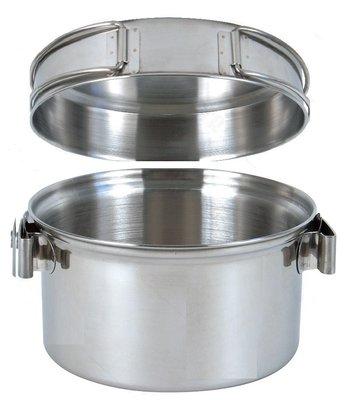 【大山野營】附D型扣 犀牛 RHINO KS-12 1-2人不銹鋼輕便套鍋 湯鍋 不鏽鋼煎盤 平底鍋 304