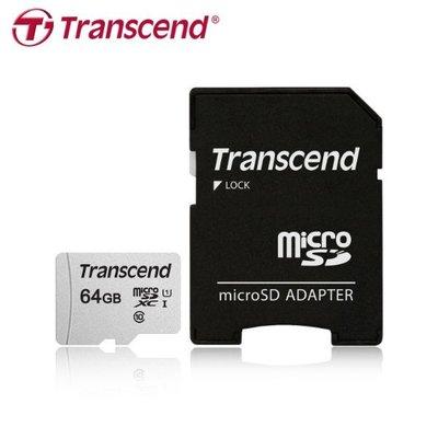 [公司貨] 創見 64GB micro SDXC C10 UHS-I U1 記憶卡(TS300S-64G)