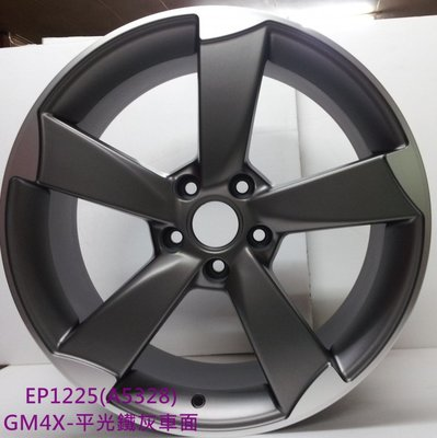 【A-216】 19吋鋁圈 5孔112 5/112 類 AUDI RS 原廠 平光鐵灰車面 五爪 RS5