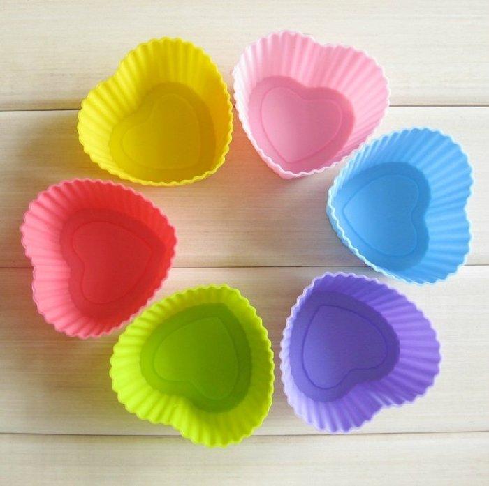 *水蘋果* A-013 7cm 心形 矽膠 蛋糕模具 DIY 巧克力 冰格 製冰 手工皂模具