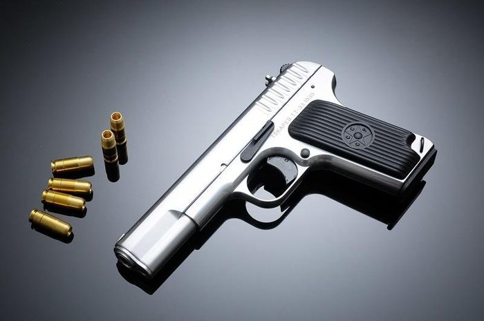 [極光小舖]FS華山0316 TT33操作槍 黑色/銀色 全金屬-FSP0316MA