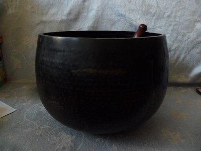 紫色小館25------錘目手工大銅缽
