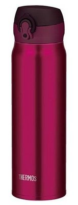 THERMOS 膳魔師 最新款 超輕 不銹鋼保溫杯 JNL- 600 酒紅色 林依晨代言正貨 耶誕禮首選