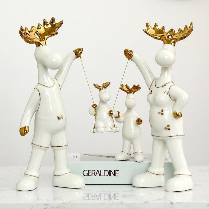 〖洋碼頭〗北歐萌鹿擺件家居飾品房間酒櫃裝飾品創意陶瓷結婚禮物裝飾擺設 bhm268