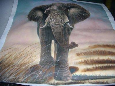 『大象』手工油畫原作無框長寬約67x58公分最耀眼的一幅油畫
