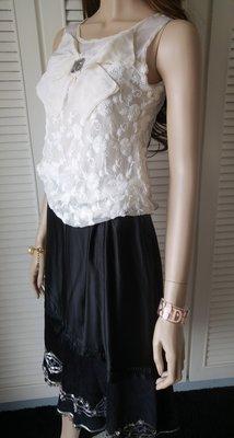 原價$27800同Blumarine 深受歐洲貴婦名媛愛牌 真絲拼接絲絨重工珠繡黑色斜尾裙