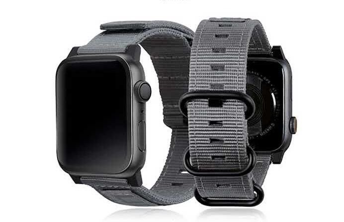蘋果錶帶 UAG Apple Watch 38/40mm Nato錶帶 尼龍/不鏽鋼扣環 -灰色 休閒風格( 免運)