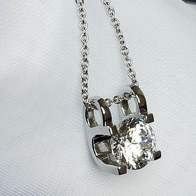 特價卡迪吊墜 3克拉高碳仿真鑽石項鏈女...