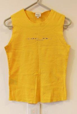 全新正品Calvin Klein CK鵝黃色無袖T shirt-購於美國
