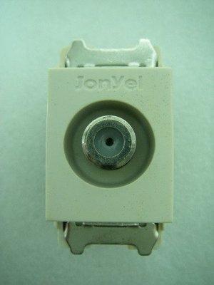 YT(宇泰五金)正台灣製/埋入式/卡式電視插座/崁入式電視線插座/同軸電纜插座/特價中