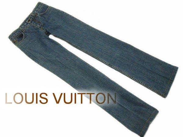 *Beauty*LV LOUIS VUITTON 路易威登 淺藍牛仔長褲