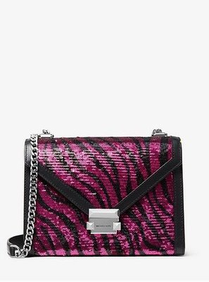 MICHAEL KORSWhitney Large Zebra Sequined Convertible Shoulder Bag