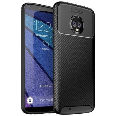 防摔Moto G6 Plus / Moto G6 碳纖維紋手機殼 全包邊保護殼 TPU 軟殼 黑色
