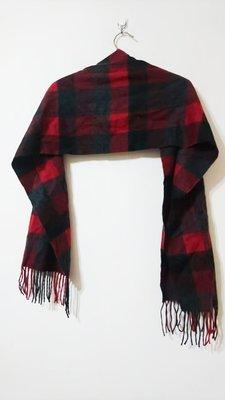CLUBROOM cashmere 喀什米爾 紅灰暖色系 秋冬 保暖 圍巾 20190826-2