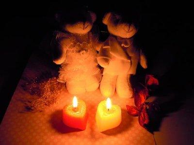 1入 戶外專用燭芯加粗型--無煙環保 加大愛心蠟燭(台灣製)【排字/活動/婚禮/求婚/情人節】