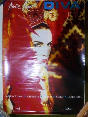 Eurythmics之 Annie Lennox 一抹濃豔底心事 Diva 海報 68X48cm 全新沒有張貼過