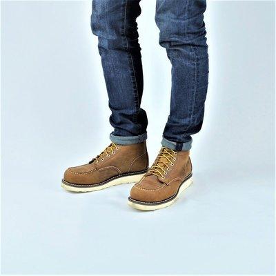固特異縫製 純橡膠防滑 厚底靴  (RED WING 875版型) 工作靴瘋馬牛皮 AG真皮製造40~45