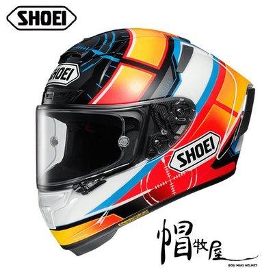 【帽牧屋】日本 SHOEI X14 DE ANGELIS TC-1  全罩式安全帽 進口帽 頂級款 選手帽 白/紅