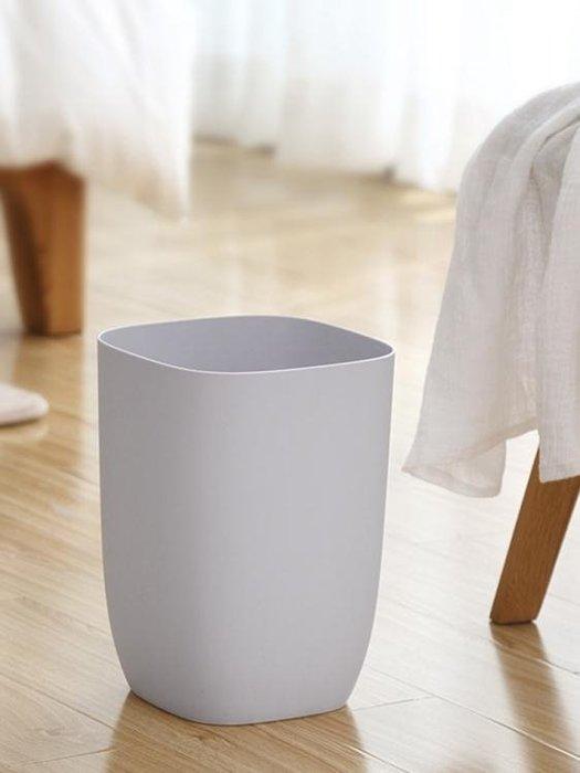 垃圾桶 垃圾桶北歐創意客廳廚房衛生間臥室宜家用簡約無蓋方形大號紙簍筒