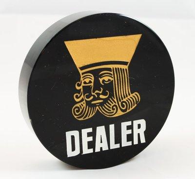 Dealer 牌 鈕扣 button 黑水晶 壓牌 莊碼 德州撲克 使用