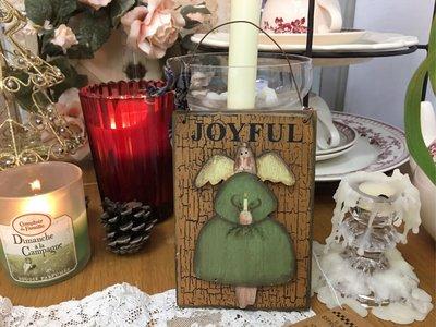 鄉村童話 日本製 手工木作 Joyful 天使 掛飾