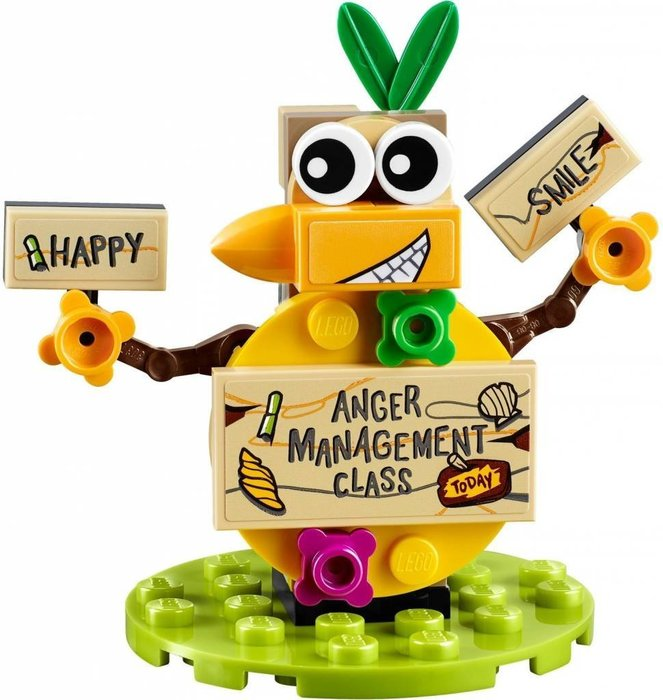 【LEGO 樂高】全新正品 益智玩具 積木/ Angry Birds 憤怒鳥玩電影 75823 單一動物偶: 鴨鴨告示牌