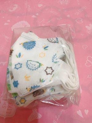 MIT 幼童口罩 刺蝟 幼兒 幼童立體 耳繩立體口罩 2-5歲 (50入)
